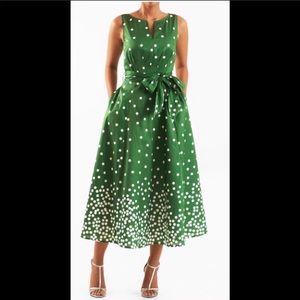 New Eshakti Polka Dot Green Cocktail Dress 20W